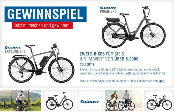 Eddie Bauer Gewinnspiel zwei E-Bikes im Wert von über 5.000 €